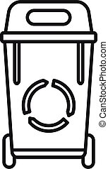House garbage icon. Outline house garbage vector icon for web design isolated on white background