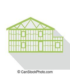 House green logo, real estate design template.