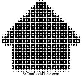 House Halftone Dotted Icon