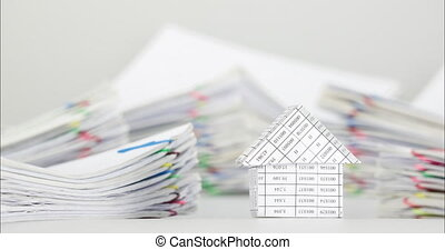 House have blur pile overload paperwork of receipt time...