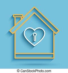 House heart key