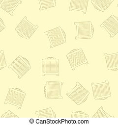 House Heating Vector Seamless Pattern