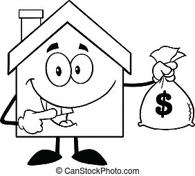 House Holding A Bag Of Money