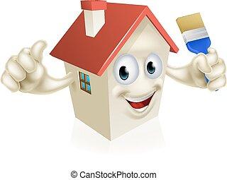 House Holding Paintbrush