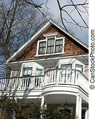 House home balcony - Nice looking house with white balcony
