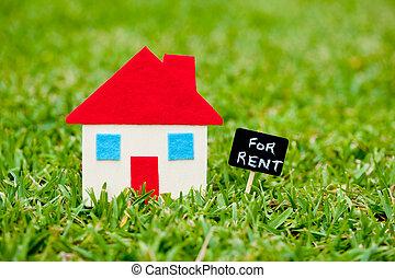 House - Home - For Rent blackboard