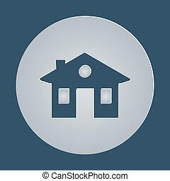 house, home icon. vector.