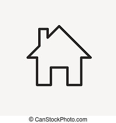 house home line icon
