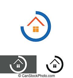 house, home logo, icon
