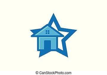 House, Home star Logo Designs Inspiration Isolated on White Background