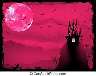 house., horreur, halloween, eps, 8, composition
