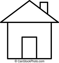 house icon black contour on a white background of vector illustration