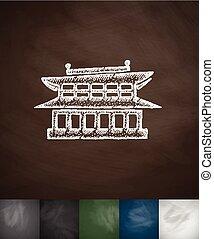 house icon. Hand drawn vector illustration
