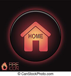 House icon. Home sign
