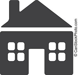House icon in black on a white background. Vector illustration