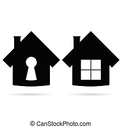 house icon in black vector illustration