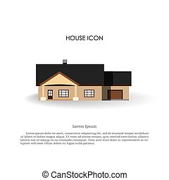 House icon in flat style on white background