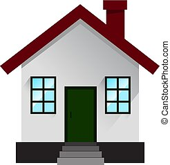 House icon in flat. Vector illustration