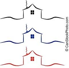house icon, logo vector