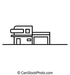 House icon on a white background. Vector illustration.