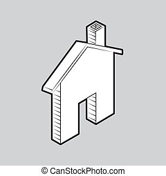 House icon on isolated grey background. Vector illustration.