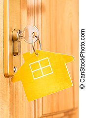 House icon on key