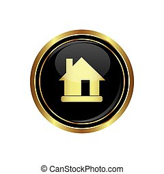 House Icon on the black