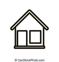 House icon on white background. Vector illustration EPS 10.