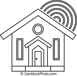 House icon, outline style