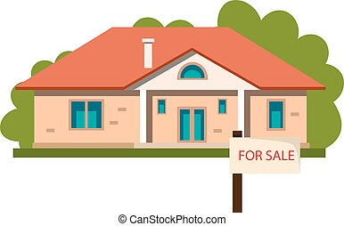 House icon sale isolated on white background.