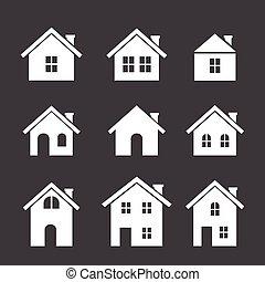 house icon set