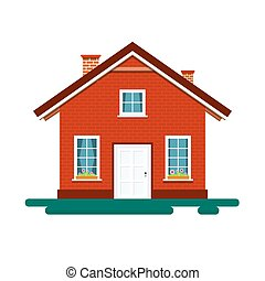 House Icon. Vector Building Isolated on White Background.