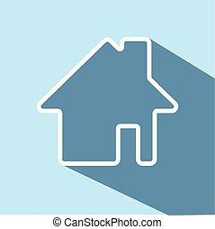 house icon, vector illustration
