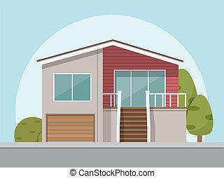 house icon. Vector illustration in flat style.