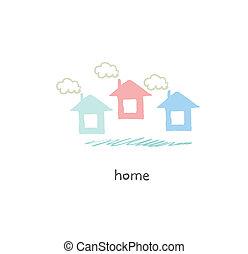 House. Illustration.