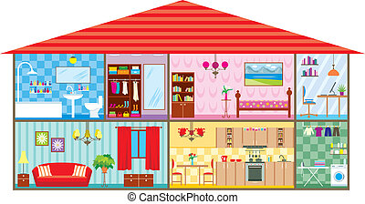 House - Vector illustration, color full