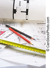 House improvement - Detail of an architect?s desk