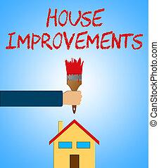 House Improvements Indicating Home Renovation 3d Illustration