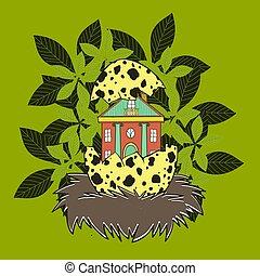 House in a bird's nest