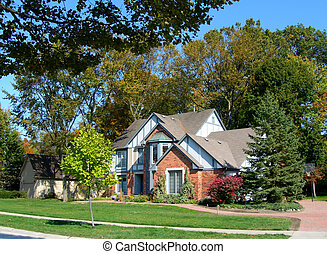 House in a subdivision
