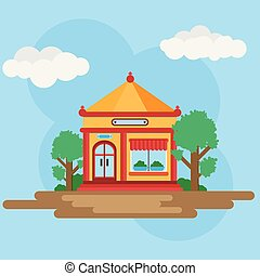 House in Chinese style