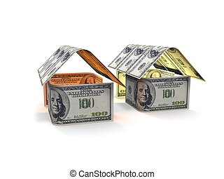 house in egg of the banknotes