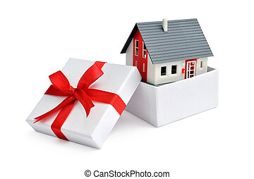 House in gift box