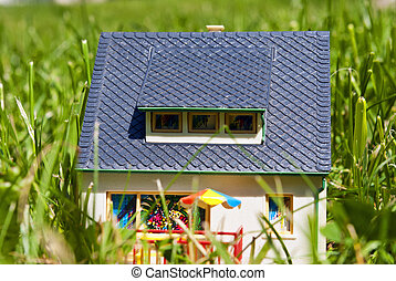 house in grass