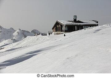 house in mountain ski resort