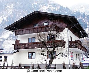 House in mountain village, Austria