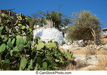 House in Rethymnon . Crete, Greece.