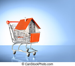house in shopping-cart
