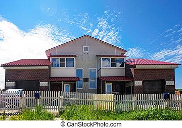 House in suburban neighborhood