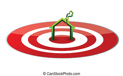house in the center of a target